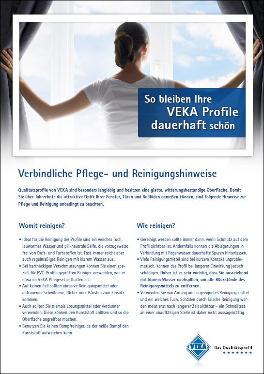 Pflege und Reinigung Veka