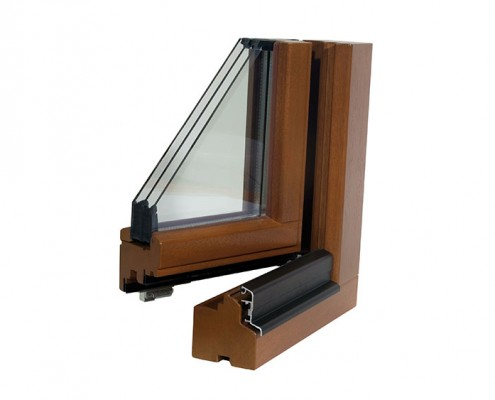Musterecke Holz Fenster