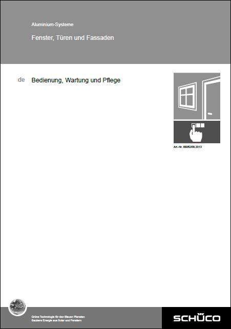 Wartungsflyer Aluminium-Fenster und -Türen