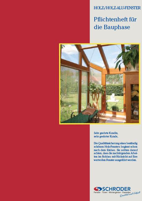 Wartungsflyer Holz-Fenster und -Türen